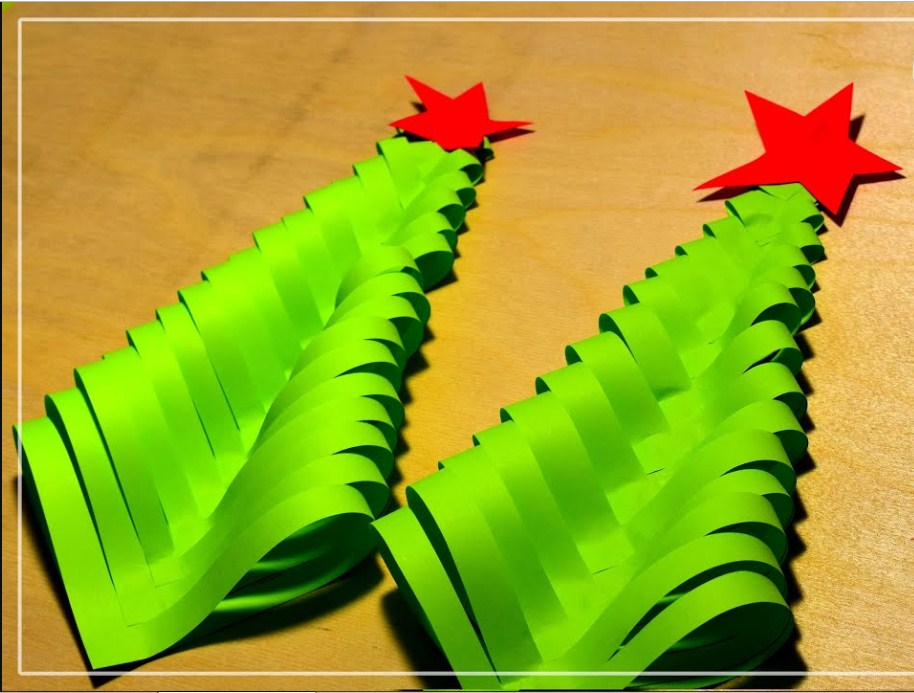 Идея простой, но очень симпатичной новогодней елочки-поделки!