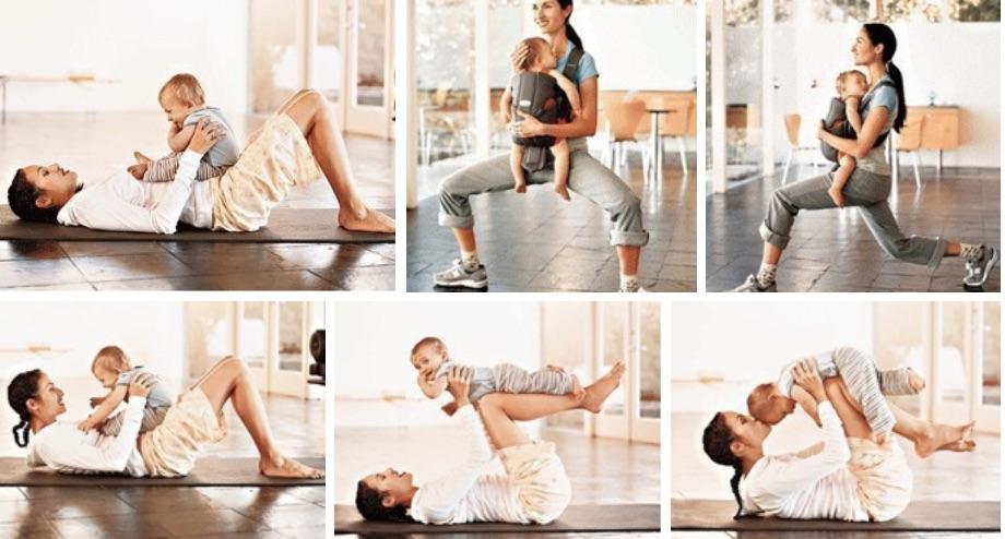 Самые эффективные упражнения для Мамочек вместе С МАЛЫШОМ