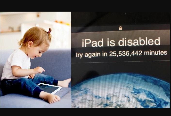Малыш блокирует iPad более чем на 25 миллионов минут!