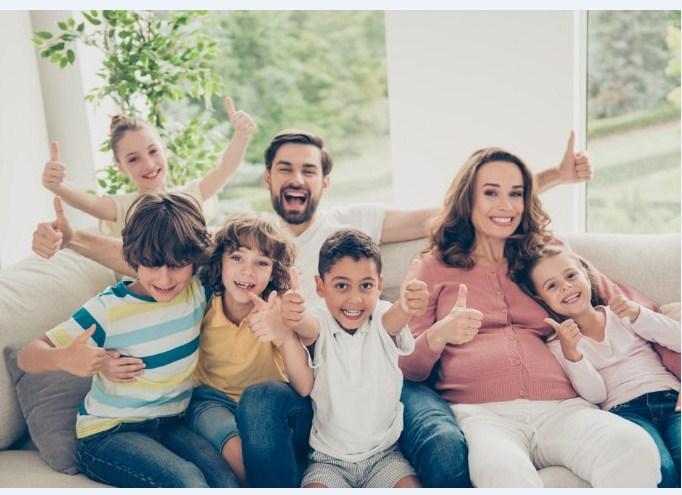 Нам нравится, что наша семья большая!